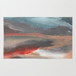 Serenity [2]: an acrylic piece in both warm and cool colors by Alyssa Hamilton Art Rug