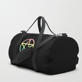 Rainbow Pentacle on Black Duffle Bag