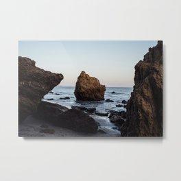 The Rock at El Matador Beach Metal Print