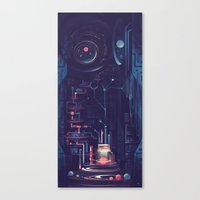 nursery Canvas Prints featuring Planet Nursery by Sylvia Ritter