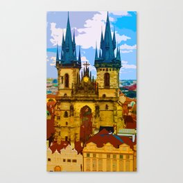 Church Our Lady of the Tyn Prague Canvas Print