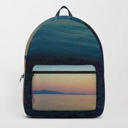 Sunset Greek Island Backpack