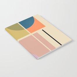 Modern geometric shapes Notebook