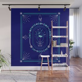 She Believed – Navy & Turquoise Palette Wall Mural