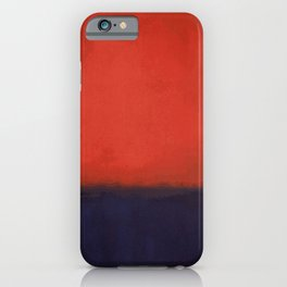 Plain color Blue black and red art print iPhone Case