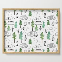 Camping and Trees Serving Tray