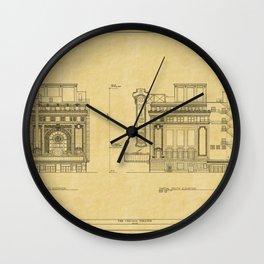 Chicago Theatre Blueprint 2 Wall Clock