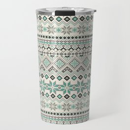 V40 Boho Vintage Anthropologie Pattern Travel Mug