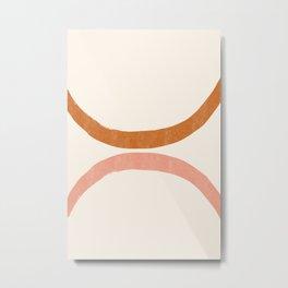 Terracotta Mid Century Abstract Rainbow Arches Metal Print