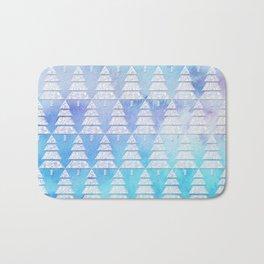 Geometric Christmas Trees 4 Bath Mat