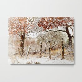 Painterly winter Metal Print