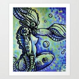 """The Ocean Temptress"" (Original) Art Print"
