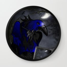 A Crow's Story Gothic Art Wall Clock