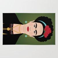 frida kahlo Area & Throw Rugs featuring Frida Kahlo by Pedro Sousa