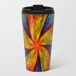 Painterly multicolor flower Travel Mug