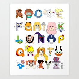 Child of the 80s Alphabet Art Print