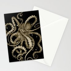 Octopsychedelia Sepia Stationery Cards