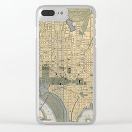 Washington D.C. 1893 Clear iPhone Case