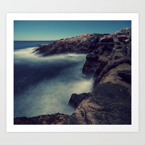Moonlit Shores Art Print