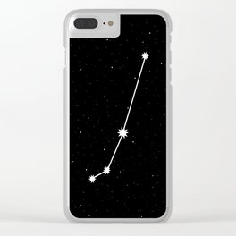 Aries Star Sign Night Sky Clear iPhone Case