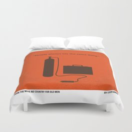 No253 My No Country for Old men minimal movie poster Duvet Cover