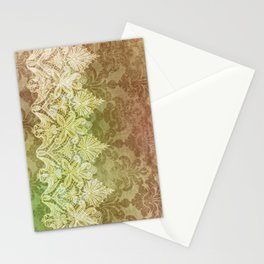 ABERDEEN HEIRLOOM, LACE & DAMASK: GOLD RUSH Stationery Cards