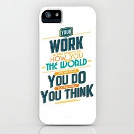 Nine Noble Virtues - Labour iPhone Case