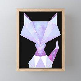 Galaxy Geometric Fox Framed Mini Art Print