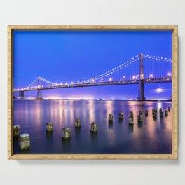 World Famous Oakland Bay Bridge San Francisco City California USA North America Ultra HD Serving Tray