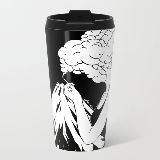 Head in the Clouds Metal Travel Mug
