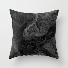 NORTH BEND WA TOPO MAP - DARK Throw Pillow