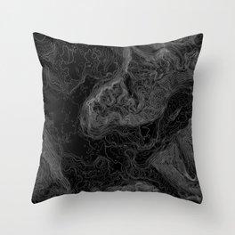NORTH BEND WA TOPO MAP - DARK Throw Pillow