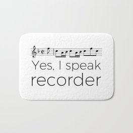 Do you speak recorder? Bath Mat