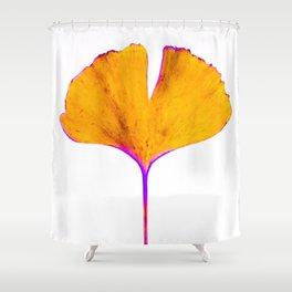 ginkgo biloba leaf Shower Curtain