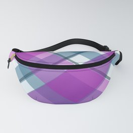 Purple Turquoise Plaid Fanny Pack