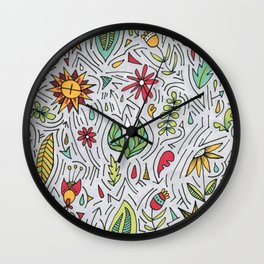 Spring Wishes Wall Clock