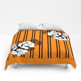 Flower and Stripes Comforters