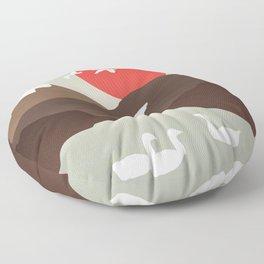 Swan Migration Floor Pillow