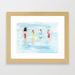 summer swimmers Framed Art Print