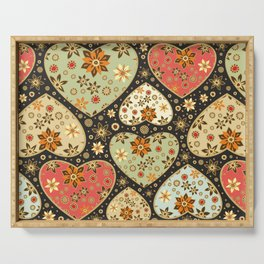 Floral hearts Serving Tray