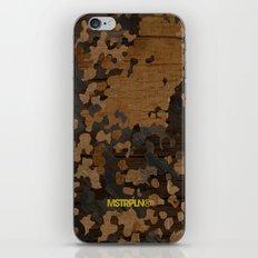 Modern Woodgrain Camouflage / Flecktarn Print iPhone & iPod Skin