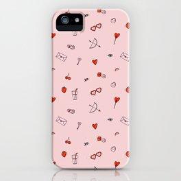 Lovestruck | Pink Background iPhone Case