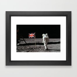 British Flag on the Moon Framed Art Print