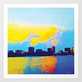 Charles River Sunset Boston Art Print