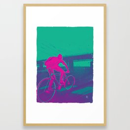 Bike to work 1 of 3 Framed Art Print