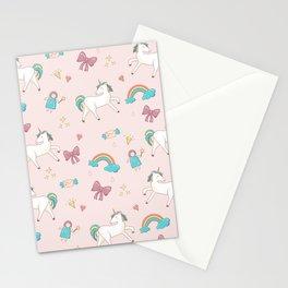 UNICORNS AND RAINBOWS Stationery Cards