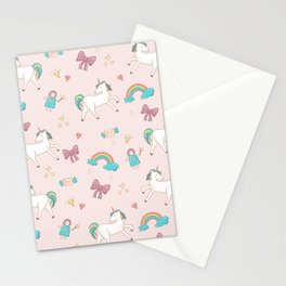 UNICORNS AND RAINBOWS Stationery Cards