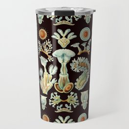 Ernst Haeckel - Scientific Illustration - Bryozoa (black) Travel Mug
