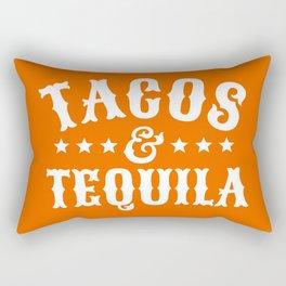 Tacos & Tequila (Orange) Rectangular Pillow