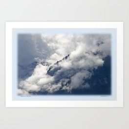MISTY ISLANDS IN THE SKY Art Print